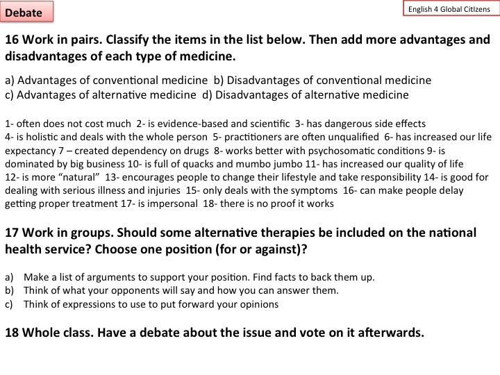 Module 5: Alternative Medicine « ENGLISH 4 GLOBAL CITIZENS